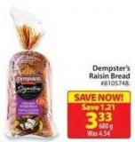Dempster's Raisin Bread