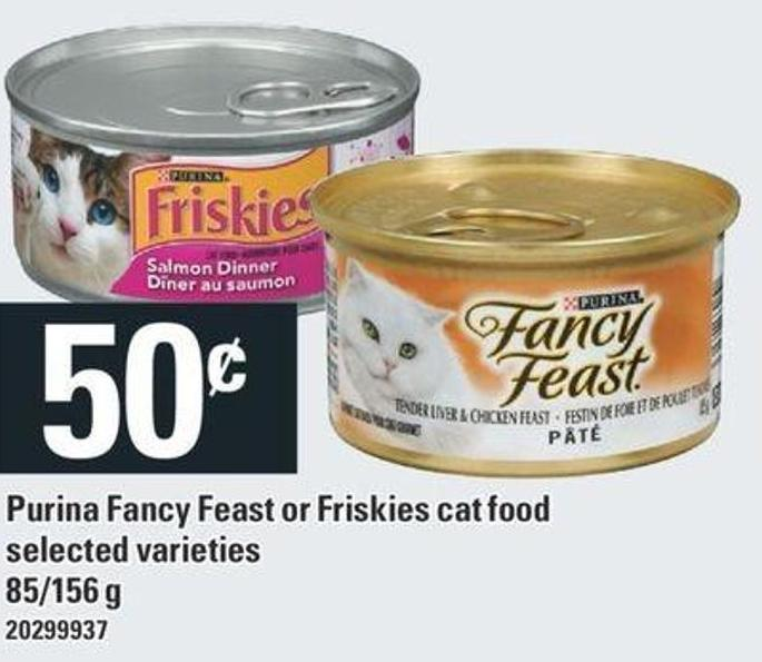 Purina Fancy Feast Or Friskies Cat Food - 85/156 G