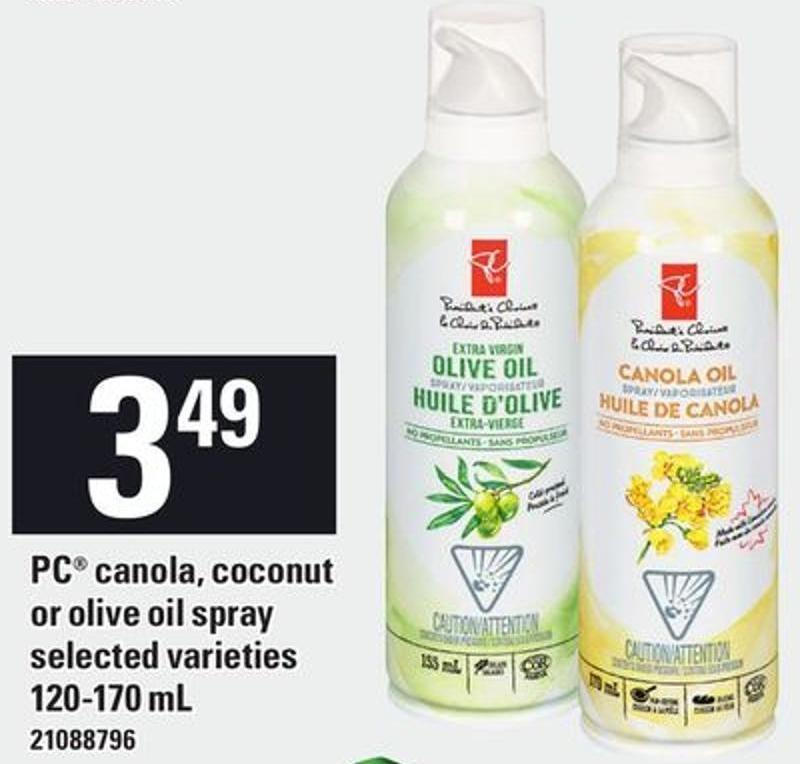 PC Canola - Coconut Or Olive Oil Spray - 120-170 mL