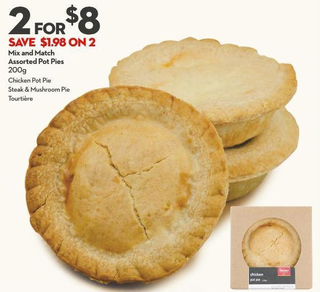 Mix and Match  Assorted Pot Pies  200g