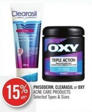 Phisoderm - Clearasil or Oxy Acne Care Products