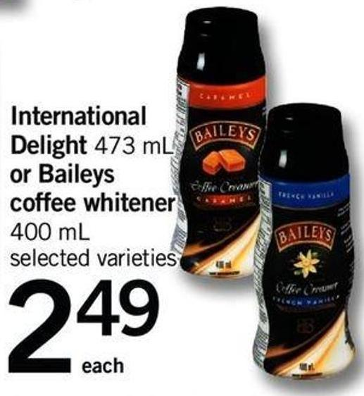 International Delight - 473 Ml Or Baileys Coffee Whitener - 400 Ml