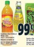 Casablanca Basil Drinks Or Mango Juice 290 ml - 1 L