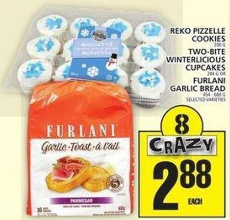 Reko Pizzelle Cookies Or Two-bite Winterlicious Cupcakes Or Furlani Garlic Bread