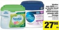 Similac Non-gmo - 658 G - Or Nestlé Good Start - 600/660 G - Infant Formula Powder With Omega