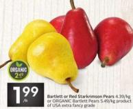 Bartlett or Red Starkrimson Pears