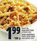 Fresh 2 Go Vegan Rotini Salad