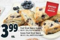Front Street Bakery Scones Pkg Of 5 - 330 g
