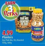 Planters Bar/pub Mix - Dry Roasted 550g - 600g