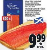 Fresh Scottish Steelhead Salmon Fillets Family Pack