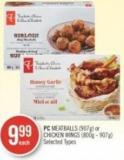 PC Meatballs (907g) or Chicken Wings (800g - 907g)
