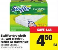 Swiffer Dry Cloth - 16's - Wet Cloth - 12's Refills Or Duster Kit