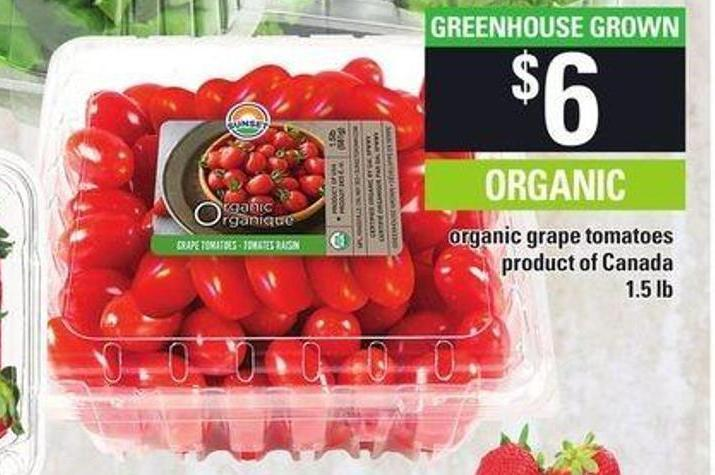 Organic Grape Tomatoes - 1.5 Lb