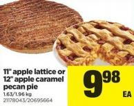 11in Apple Lattice Or 12in Apple Caramel Pecan Pie - 1.63/1.96 Kg