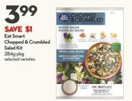 Eat Smart Chopped & Crumbled Salad Kit 284g Pkg