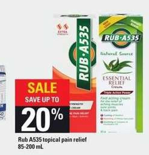 Rub A535 Topical Pain Relief
