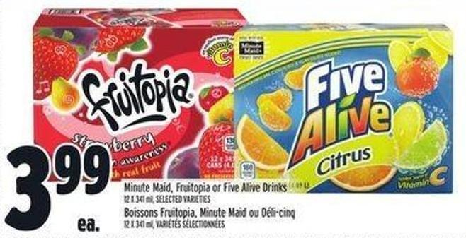 Minute Maid - Fruitopia Or Five Alive Drinks