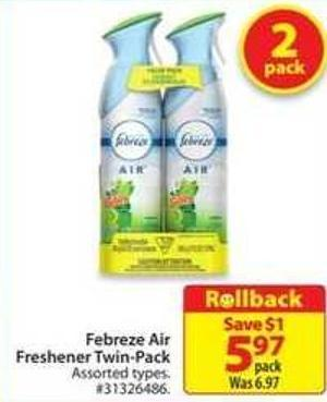 Febreze Air Freshener Twin Pack
