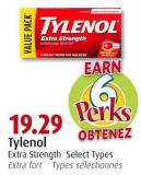 Tylenol Extra Strength Select Types