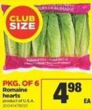 Romaine Hearts - Pkg of 6