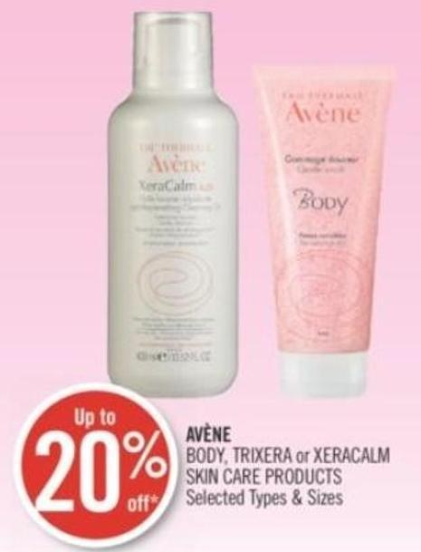 Avène Body - Trixera or Xeracalm Skin Care Products