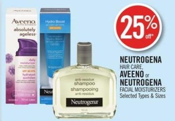 Neutrogena Hair Care - Aveeno or Neutrogena Facial Moisturizers