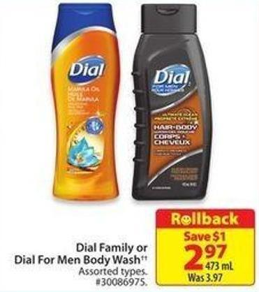 Dial Family or Dial For Men Body Wash