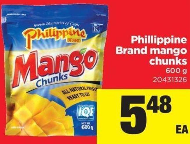 Phillippine Brand Mango Chunks - 600 g