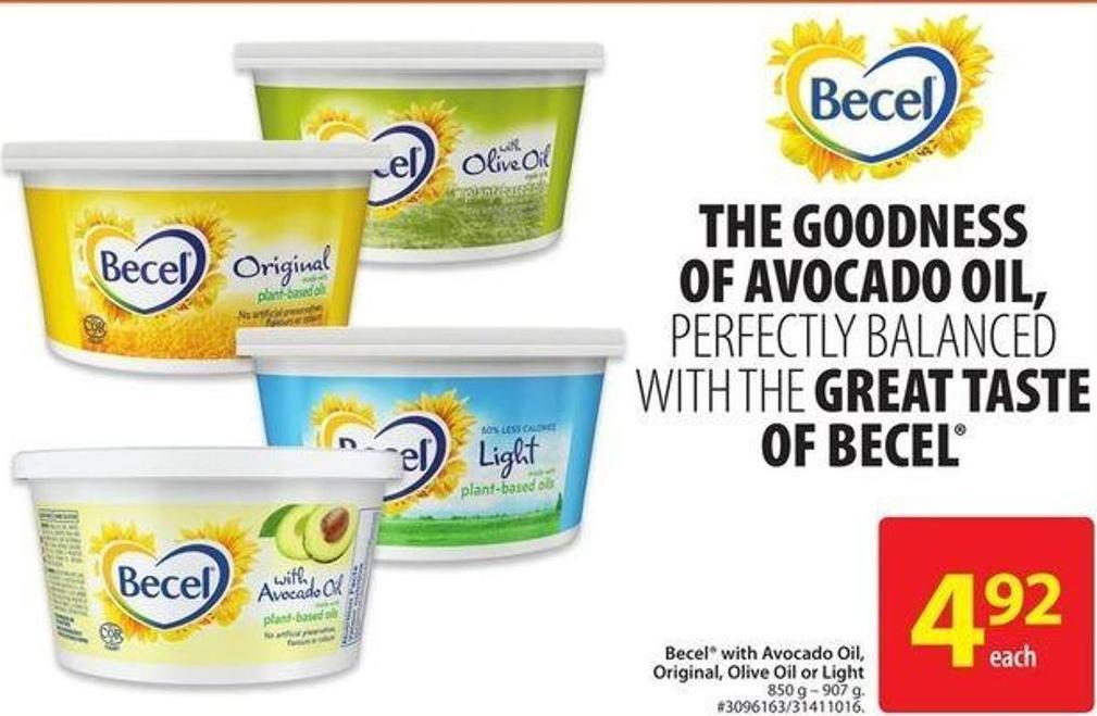 Becel With Avocado Oil - Original - Olive Oil or Light