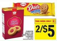 Christie Dad's Or Peek Freans Cookies
