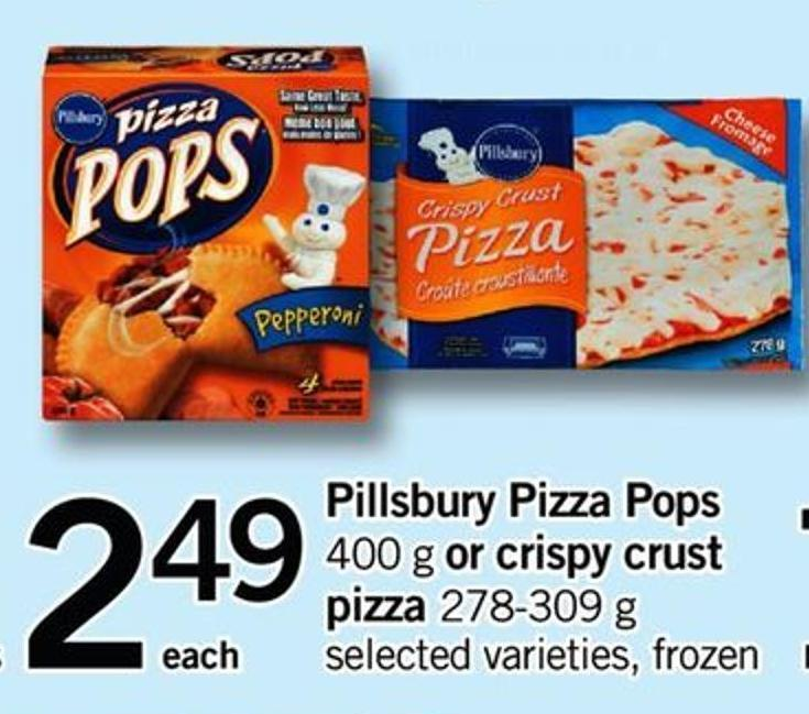 Pillsbury Pizza Pops - 400 G Or Crispy Crust Pizza - 278-309 G
