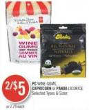 PC Wine Gums - Capricorn or Panda Licorice