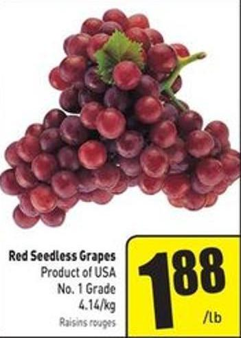 Red Seedless Grapes 4.14/kg