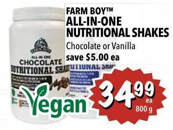 Farm Boy All-in-one Nutritional Shakes 800 g