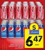 Pepsi - Coca-cola - Canada Dry Or 7up