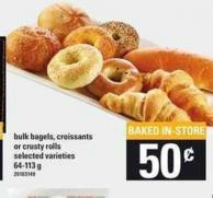 Bulk Bagels - Croissants Or Crusty Rolls - 64-113 g