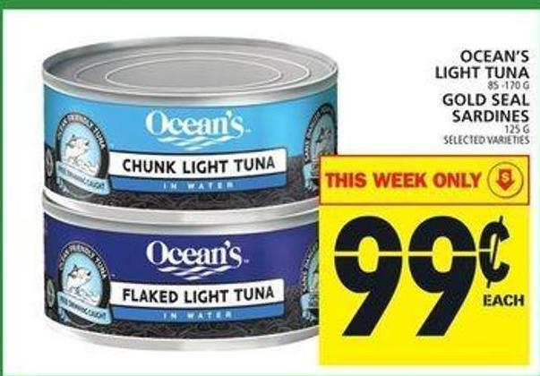Ocean's Light Tuna or Gold Seal Sardines