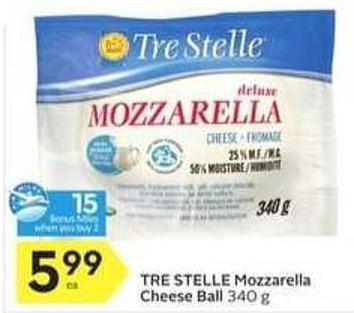 Tre Stelle Mozzarella Cheese Ball - 15 Air Miles Bonus Miles