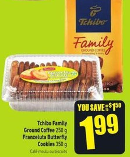 Tchibo Family Ground Coffee 250 g Franzeluta Butterfly Cookies 350 g