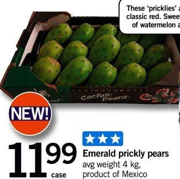 Emerald Prickly Pears - Avg Weight 4 Kg