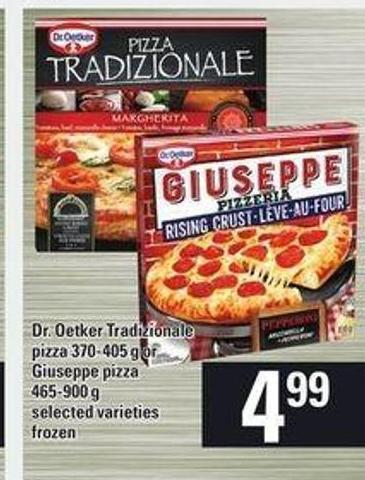 Dr. Oetker Tradizionale Pizza 370-405 G Or Giuseppe Pizza 465-900 G