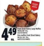 Front Street Bakery Large Muffins | Gros Muffins Front Street Bakery