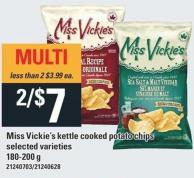 Miss Vickie's Kettle Cooked Potato Chips - 180-200 G