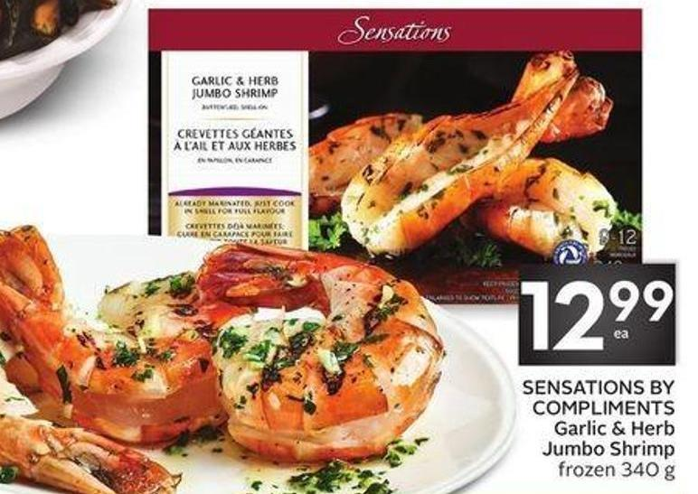 Sensations By Compliments Garlic & Herb Jumbo Shrimp