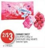 Carnaby Sweet Lollipops (180g) or Chocolate (80g) Hearts