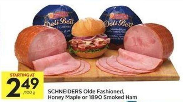 Schneiders Olde Fashioned - Honey Maple or 1890 Smoked Ham