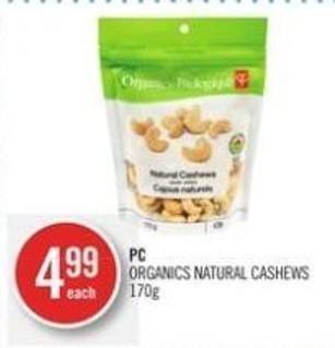 PC Organics Natural Cashews 170 g