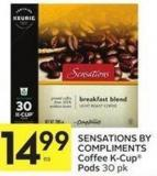 Sensations By Compliments Coffee K-cup Pods 30 Pk