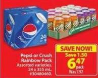 Pepsi or Crush Rainbow Pack