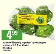 No Name Naturally Imperfect Green Peppers - 2.5 Lb Bag
